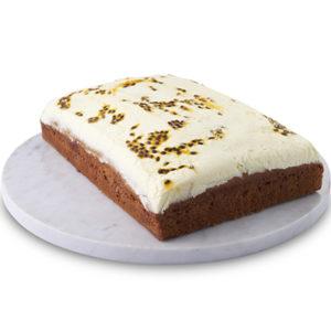 Traditional Sponge Slab Banana Passionfruit Cake Sydney