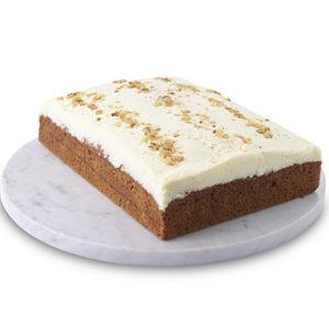 Traditional Sponge Slab Carrot Cake Sydney