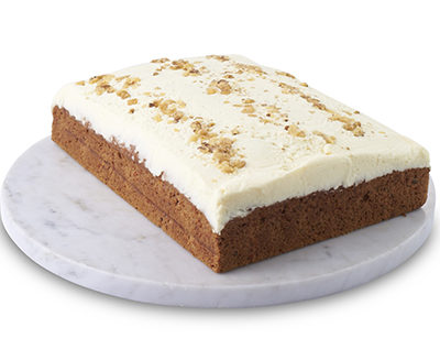 Traditional Sponge Slab Carrot Cake Sydney